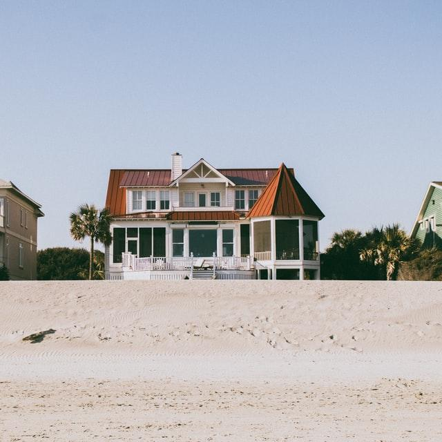 A two-storey house by the beach