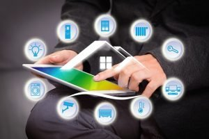 building a family house with smart home technology.