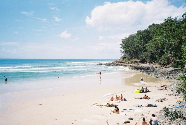 Vacationers in Noosa Heads QLD